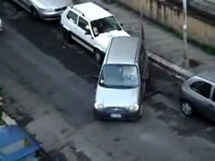 Thumbnail of Crazy woman tries to park car