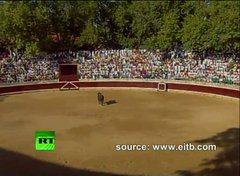 Thumbnail of August 19,2010 Bull leaps into crowd in Spain