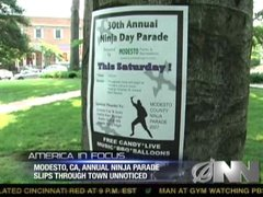 Thumbnail of Ninja parade slips through town unnoticed once again