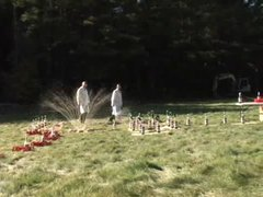 Thumbnail of Diet coke + mentos domino effect