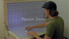 Thumbnail of BendDesk: Multi-touch on a Curved Display