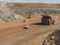Thumbnail of Crushing a truck