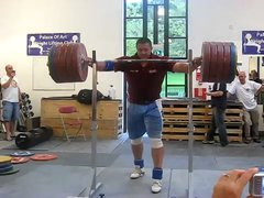 Thumbnail of 290 KG Squat With No Hands By Mikhail Koklyaev