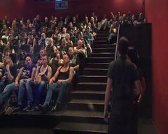 Thumbnail of bikers in a cinema