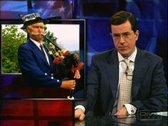 Thumbnail of Colbert on Bush's Biking Accident