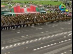 Thumbnail of Domino at a military parade in Belarus